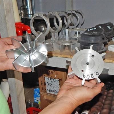 Крыльчатка компрессора штукатурной станции - фото 4846