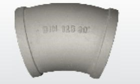 Угол бетоновода DN125*R275*30 - фото 5276