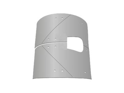 Комплект брони растворонасоса BMS, 4 листа, центральный выход 6 мм. - фото 5351