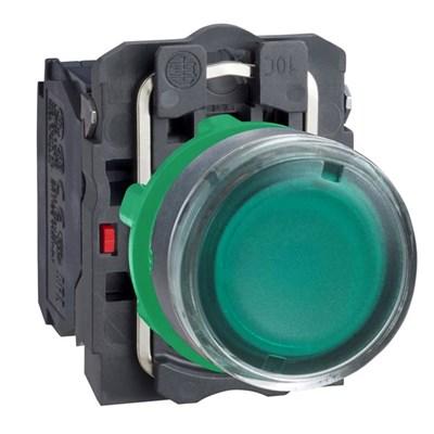 Кнопка зеленая с подсветкой М22 4А - фото 5712