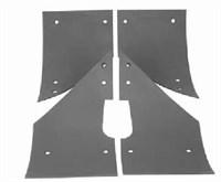 Комплект истираемых листов (броня)растворонасоса пневмонагнетателя BR Центральный выход 6 мм